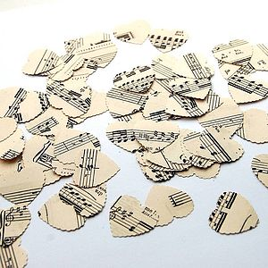 Vintage Music Score Heart Confetti - dining room