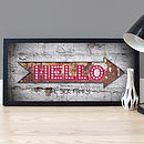 Personalised Circus 'Hello Lights' Poster