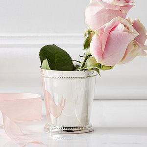 Small Silver Flower Cup - vases