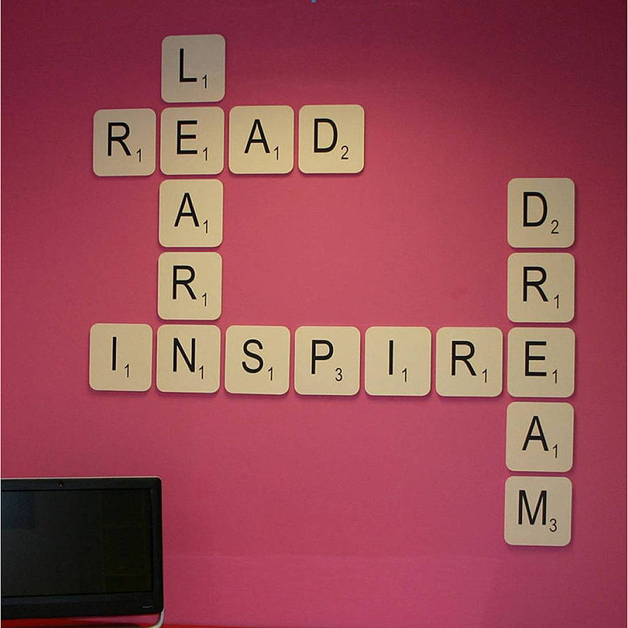 Giant scrabble wall letter by copperdot for Decoration 5 letters