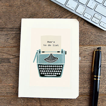 Personalised Mother's Day Typewriter Notebook