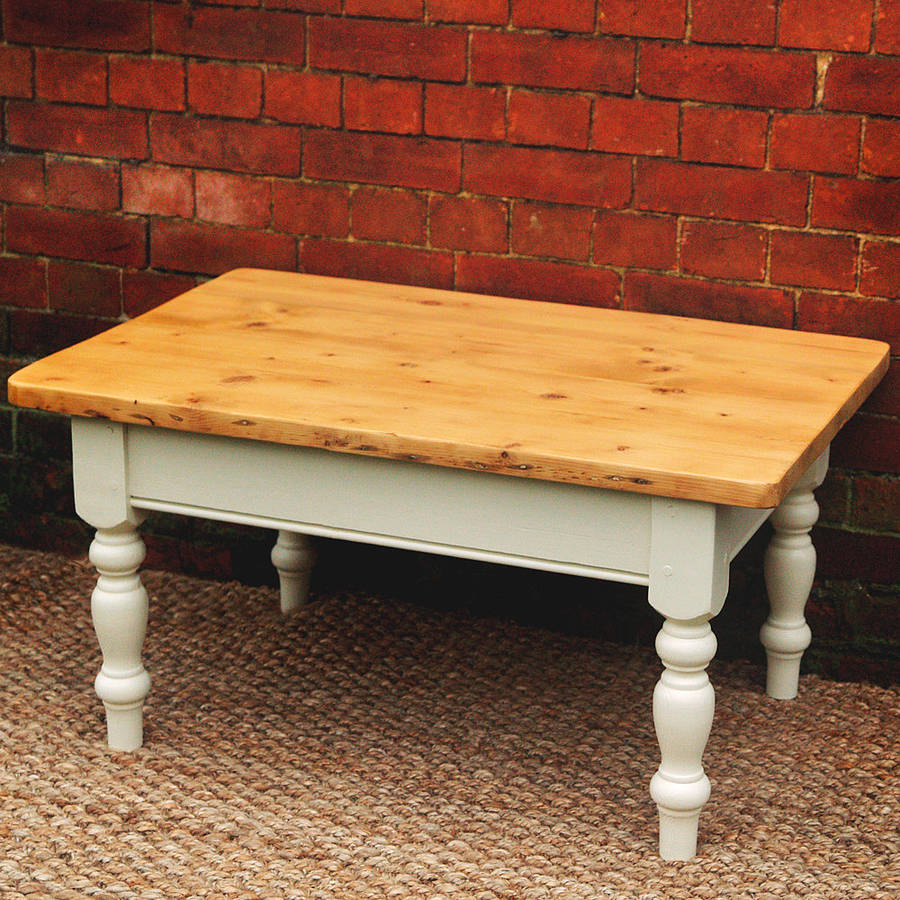 Painted country pine coffee table by paper plane for Pine coffee table