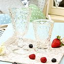 Peardrop Toughened Glassware