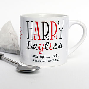Expresso Or Childs Personalised Mug
