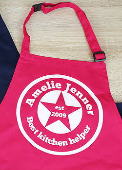 Personalised Est Child Apron