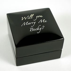 Personalised 'Will You Marry Me?' Ring Box - jewellery storage & trinket boxes