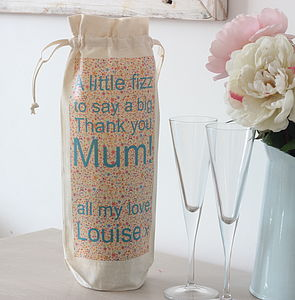 Personalised Bottle Bag For Mum's - wrapping