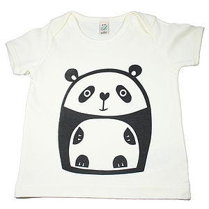 Panda Organic Cotton T Shirt - clothing