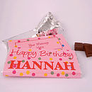 Happy Birthday Personalised Chocolate Bar