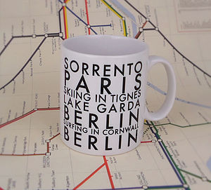 Personalised Destination Mug - mugs