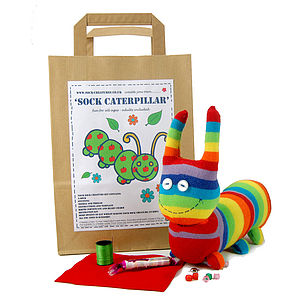 Sock Caterpillar Craft Kit - craft-lover