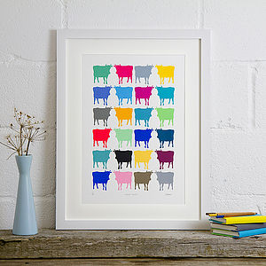 Cornish Cows Limited Edition Screen Print - pictures & prints for children