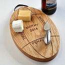 Personalised Engraved Oak Rugby Ball Platter