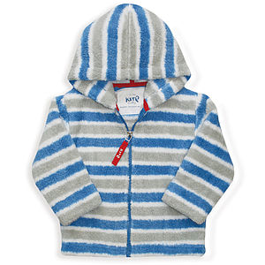 Stripy Zip Up Fleece