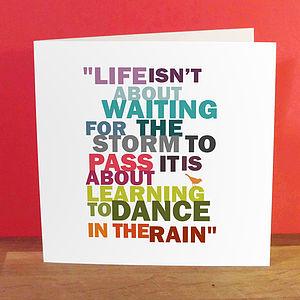 'Dance In The Rain' Card