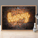 Personalised Neon 'Name' Poster
