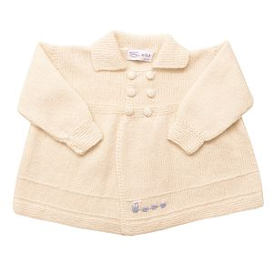 Cashmere Train Coat - babies' coats & jackets