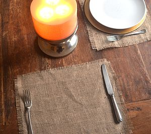 Hessian Placemat - kitchen