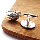 Silver Fern Secret Message Cufflinks