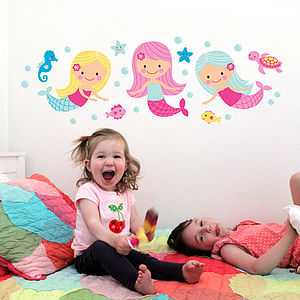 Mermaid Wall Stickers - office & study
