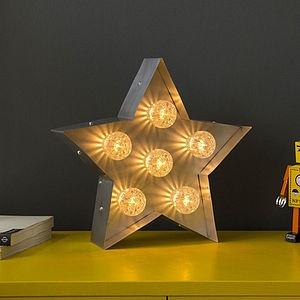 Light Up Fairground Star - children's lights