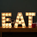 'Eat' Light Up Fairground Bulb Sign