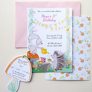 'Woodland' Birthday Party Invitation - children's birthday