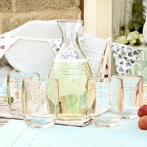 Embossed Dragonfly Luxury Glassware Collection - tableware
