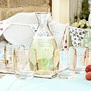Embossed Dragonfly Luxury Glassware Collection