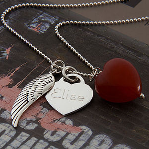 Girls Personalised Sterling Silver Twilight Necklace - children's accessories
