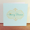 Merry Divorce Greetings Card