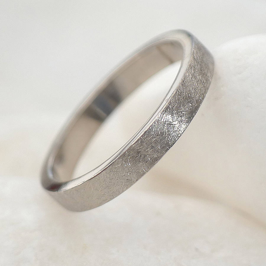 Textured Wedding Ring In Gold Or Platinum