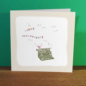 'Happy Anniversary' Birdy Types Card