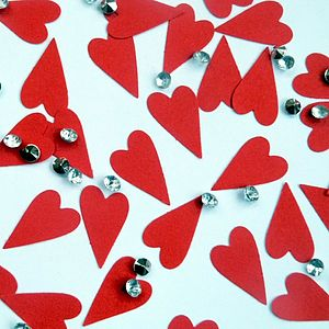 Modern Heart Table Confetti