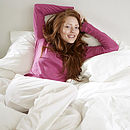 White Bedlinen: Organic Cotton Duvet Set