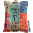 Lavender Bag   Tickets Fabric