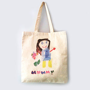 Bag Printed With Your Child's Drawing