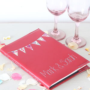 Personalised Leather Bunting Journal - office & study