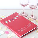 Personalised Leather Bunting Journal