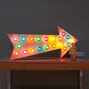 Large Light Up Fairground Arrow - baby's room