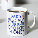 Personalised Golfer's Mug
