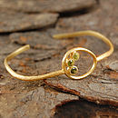 Gold And Tourmaline Cuff