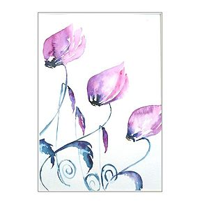 Pink Cyclamen Original Painting - home accessories