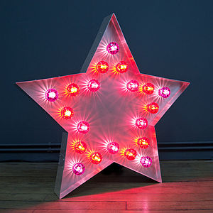 Large Light Up Fairground Star - baby's room