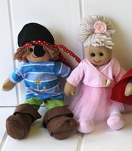 Mini Character Rag Dolls - toys & games
