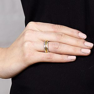 Thin Hammered Ring - rings