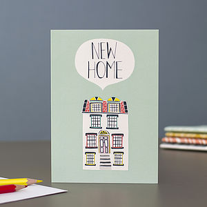 New Home Blank Greetings Card - new home cards