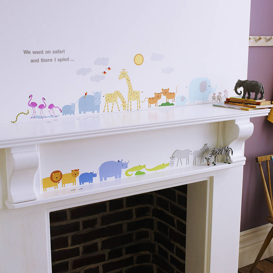 childrens safari wall stickers by kidscapes