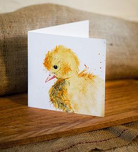 Inky Duckling Blank Greetings Card