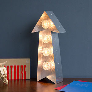 Light Up Fairground Arrow - wall lights